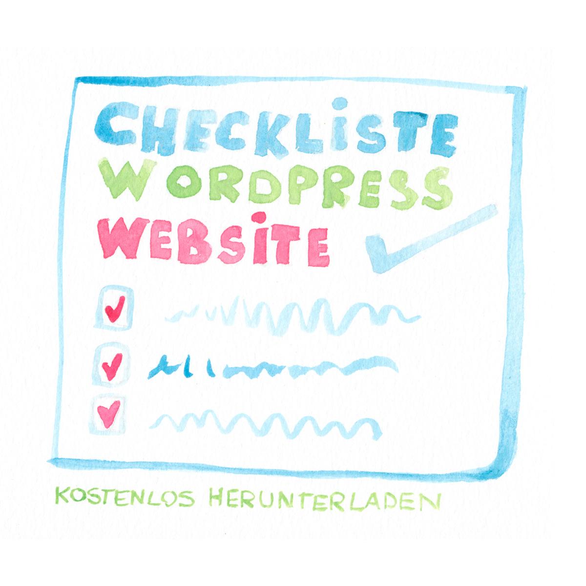 WordPress Checkliste frauhdesign