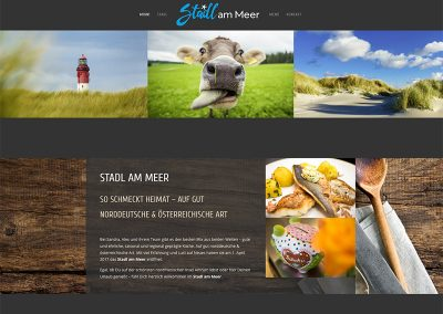 Website Stadl am Meer